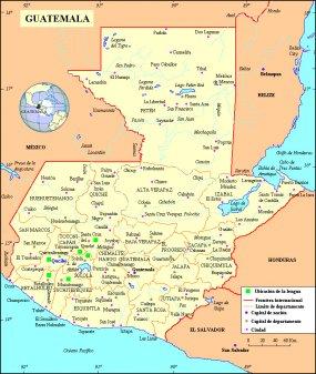 Quiché, Mapa Geografico - Guatemala