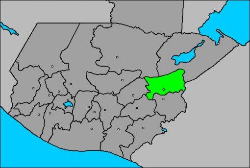 Zacapa Mapa Ubicacion Territorial Guatemala